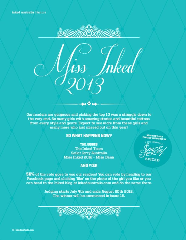 MISS INKED 2013